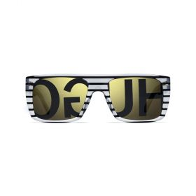 Square Gold & Striped Crystal Sunglasses