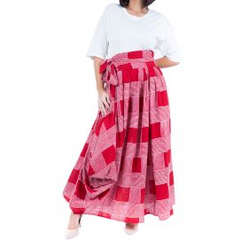 Jute - Red Checkered Skirt With A Matching Belt