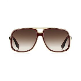 Marc Jacobs -  Square Brown Gradient & Burgundy Sunglasses