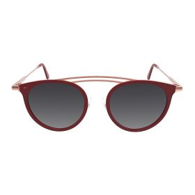 Prive Revaux - The Rogue Round Rose Gold/Burgundy Sunglasses