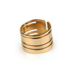Striped Gold Ring
