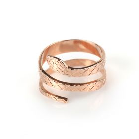 Snake Rose Gold Ring