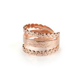 Striped Rose Gold Ring