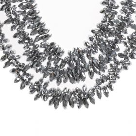 Haneen Boutique - 3 Layer Women Necklace - Silver