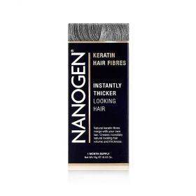 Nanogen - Instant Hair Fuller With Natural Keratin Fiberes Gray - 15 Gm