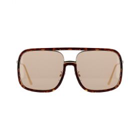 RS - Glam Square Brown & Tortoise Sunglasses