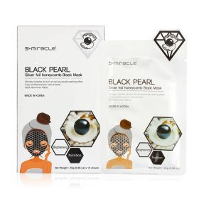 S+MIracle - Black Pearl Silver Foil Honeycomb - Black Mask