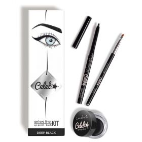 Lovely Eye Makeup Kit Celeb ( Gel Eyeliner - Black + Eye Makeup Brush}