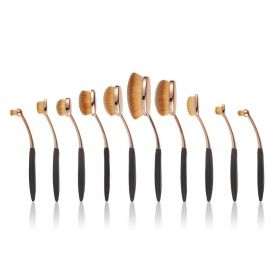 Contour Cosmetics -  Niko Pro Oval Brush Set- 10 Pcs
