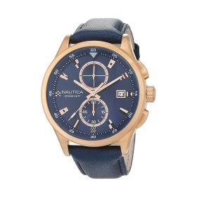 Mens Watch - Blue Leather