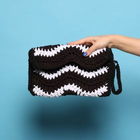Sun Kissed -  White & Black Clutch