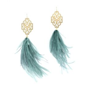 Ghadeer Albarjas - Swirly Marquise Peacock Earrings