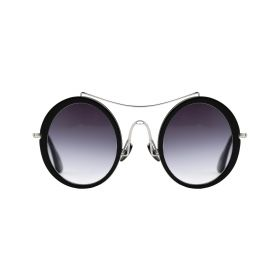 Barn's Collection - Abbey's Oval Black & White Sunglasses