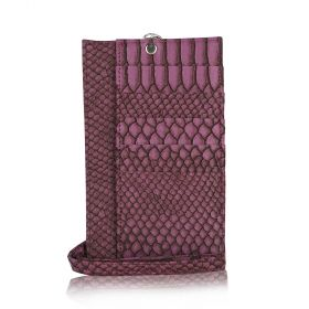 Phone Holder Embossed Python - Dark Purple