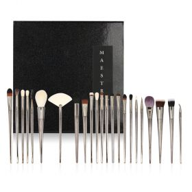 Maestro - Makeup Brush Set with Pouch For Face & Eyes - 25pcs