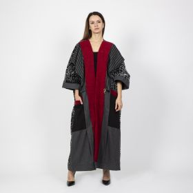 Armanosa Collection - Grey Bisht - Length 62 in