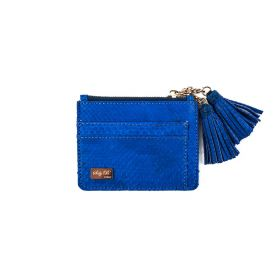 Saly Boutique - Python Skin Card Holder (Type 1) - Electric Blue