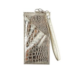 My Sac -  Leather Phone Holder - Shinny Gold - All types of Iphone till Iphone X