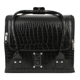 K7L Cosmetics - The Crocodile Makeup Bag - Black