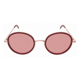 Prive Revaux - The Street Round  Rose Gold Dark Red Sunglasses