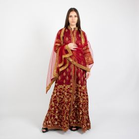 Thorns_gcc - Maroon Dress