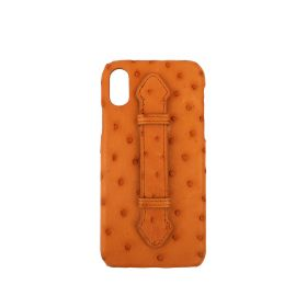 Mustard Leather Iphone X and XS Cover