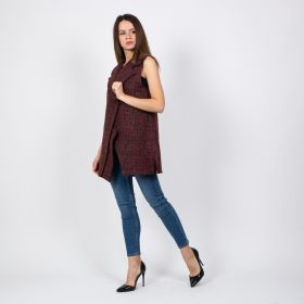 Buttoned Vest - Maroon
