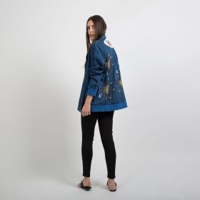 Fabulous Vegas Denim Jacket - Dark Blue