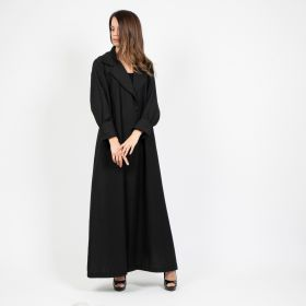 Abaya Cut with Blazer on the Back- Black