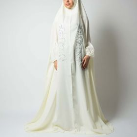 Baboona - Off-White Praying Dress With Silver Embroidery - Free Size