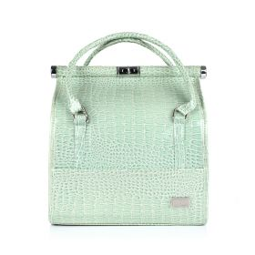 Crocodile Makeup Bag - Light Green