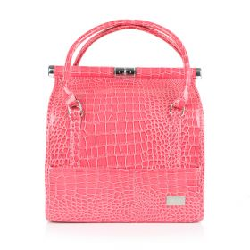 Crocodile Makeup Bag - Pink