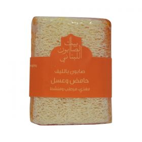 Bayt Saboun Lemon & Honey Loofa Soap