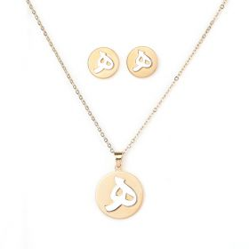 Arabica set (ه ) of Necklace and Earings- Silver and Gold Plated