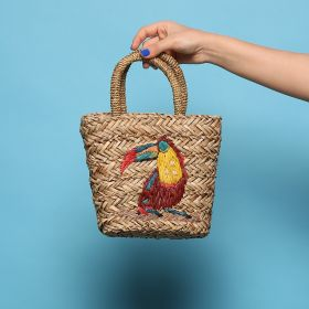 No Brand -  Beige / Multicolor Bird  Cross body
