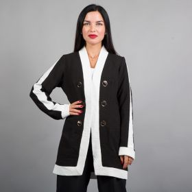 Central Jacket - Black/White
