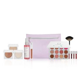 Lavender Perfecting Beauty Makeup Bag - 8 Pcs