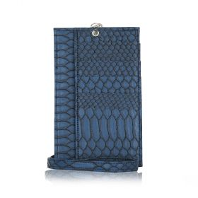 Phone Holder Embossed Python - Dark Blue