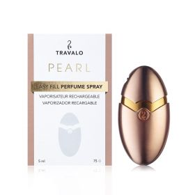 Pearl Luxury Refilliable Perfume Atomizer - 5ml/75 Sprays – Rose Gold