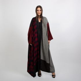 Armanosa Collection - Red Checkered Bisht - Length 62 inch