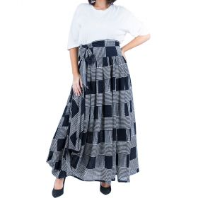 Jute - Black Checkered Skirt With A Matching Belt