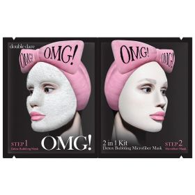 Double Dare - OMG! Detox Bubbling Microfiber Mask Kit - 2IN1
