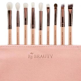 BJ Beauty - Professional Brush Set For Eyes - 9 Pcs