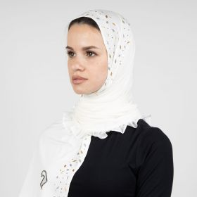 Diamokwt - Off White Hijab