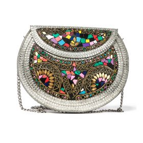 Kimy's Bags - L'Oriental -  White / Gold / Multicolored Clutch - bag