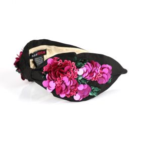Namjosh - Sicily Head Band - Black/Pink