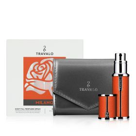 Milano Refillable Fragrance Spray Mother Gift Set - Orange