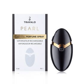 Pearl Refillable Fragrance Spray - Black