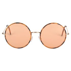 Yoko Round Orange Pastel & Havana Sunglasses