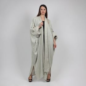 Eleven by Jenan - Beige Bisht + Dress with Golden buttons